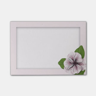 Pink and White Floral with Matte Post-it Notes