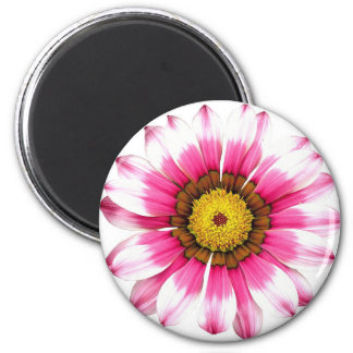 Pink and White Flower Floral Magnet