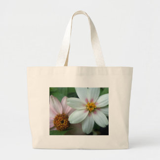 Pink and White Flowers Jumbo Tote Bag