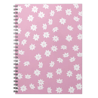 Pink and White Flowers Spiral Notebook