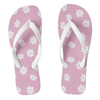 Pink and White Flowers Thongs