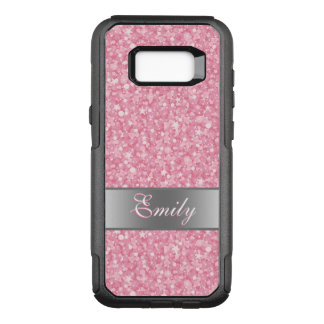 Pink And White Glitter OtterBox Commuter Samsung Galaxy S8+ Case