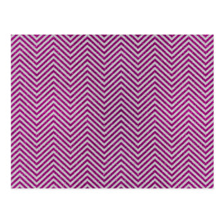 Pink and White Glitter Zig Zag Post Card
