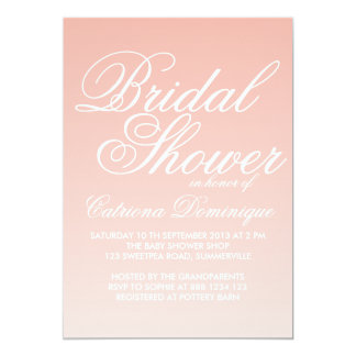 Pink and White Gradient Bridal Shower Invitation