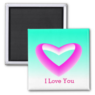 Pink and White Gradient Heart Magnet