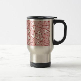 Pink and White Hearts Mug
