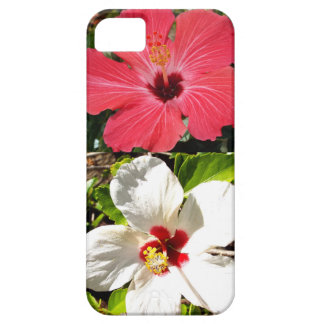 Pink and White Hibiscuses Case For The iPhone 5