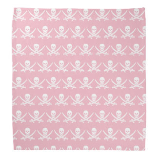 Pink and white Jolly roger pirate flag skull Kerchiefs