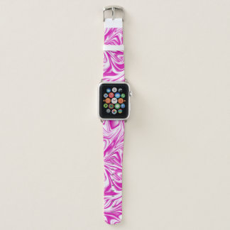 Pink and White Liquid Digital Art Apple Watch Band