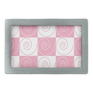 Pink and White Mouse Tails Belt Buckle