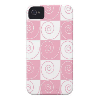 Pink and White Mouse Tails iPhone 4 Covers