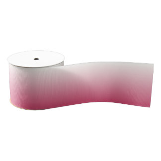 Pink and White Ombre Grosgrain Ribbon