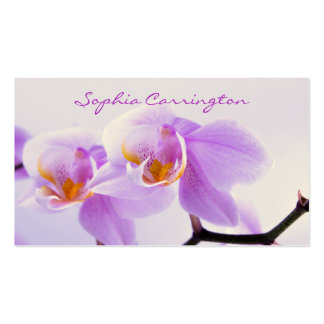 Pink and White Orchids Pack Of Standard Business Cards