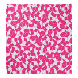 Pink and White Penrose Tiled Bandanan Bandana