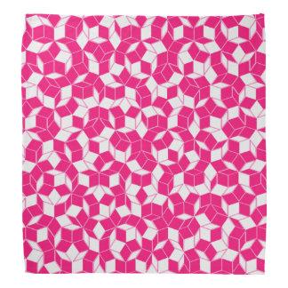 Pink and White Penrose Tiled Bandanan Bandanas