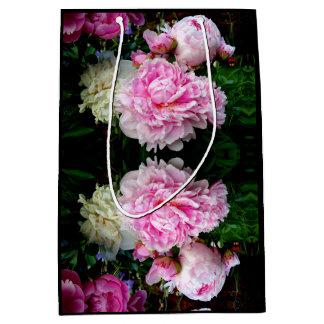 Pink and White Peonies Medium Gift Bag