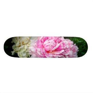 Pink and White Peonies Skate Board Decks