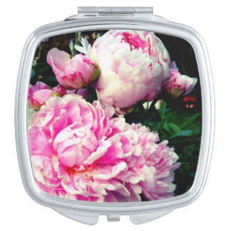 Pink and White Peonies Travel Mirror