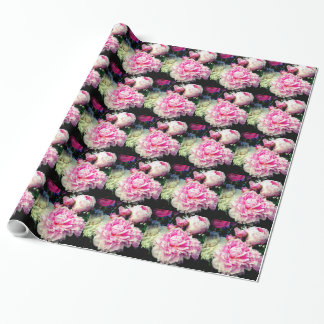 Pink and White Peonies Wrapping Paper