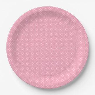Pink and White Polka Dot 9 Inch Paper Plate