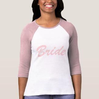 Pink and White Polka Dot Bride T-Shirt
