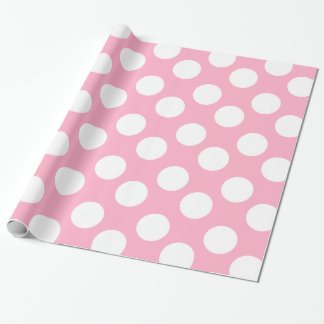 Pink and White Polka Dot Gift Wrapping Paper