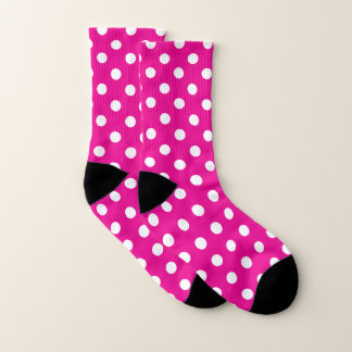 Pink and White Polka Dot Pattern 1