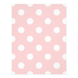Pink and White Polka Dot Pattern 21.5 Cm X 28 Cm Flyer