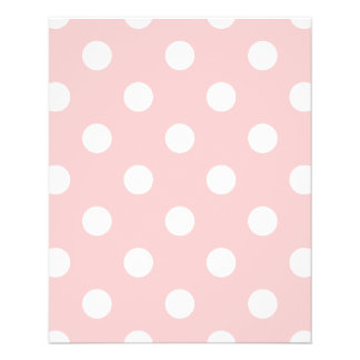 Pink and White Polka Dot Pattern Flyer
