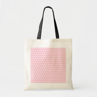 Pink and White Polka Dot Pattern. Spotty. Budget Tote Bag