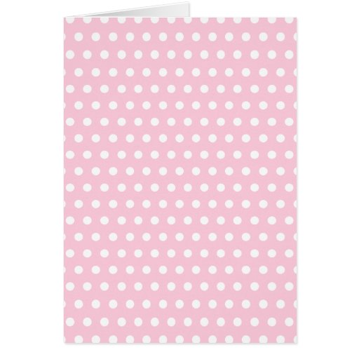 Pink and White Polka Dot Pattern. Spotty. Greeting Card