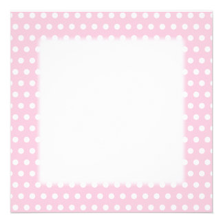 Pink and White Polka Dot Pattern Spotty Personalized Announcements