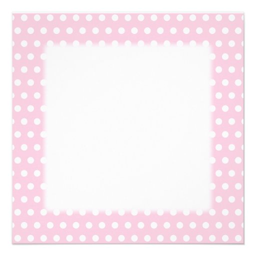 Pink and White Polka Dot Pattern. Spotty. Personalized Announcements