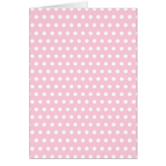 Pink and White Polka Dot Pattern. Spotty. Note Card