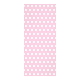 Pink and White Polka Dot Pattern. Spotty. Personalised Rack Card