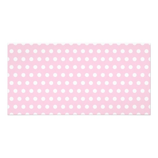Pink and White Polka Dot Pattern. Spotty. Photo Greeting Card