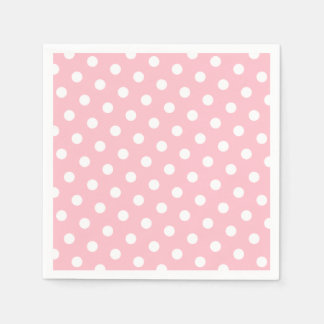 Pink and White Polka Dots Disposable Napkin