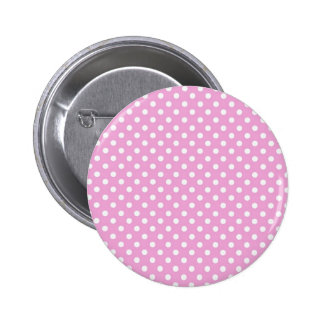 Pink and White Polka Dots Gift Collection for Her 6 Cm Round Badge