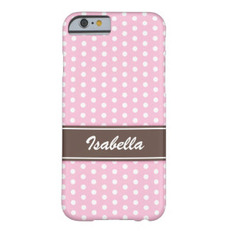 Pink and white polka dots iPhone 6 case Barely There iPhone 6 Case