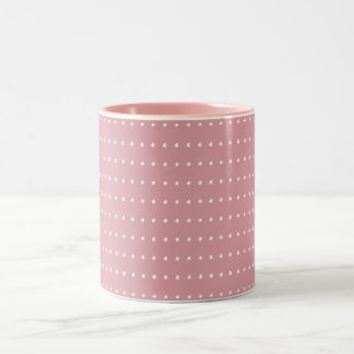Pink and White Polka Dots Mug