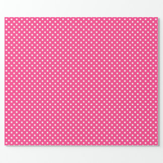 Pink and White Polka Dots Pattern