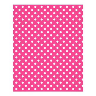 Pink and White Polka Dots Pattern 11.5 Cm X 14 Cm Flyer