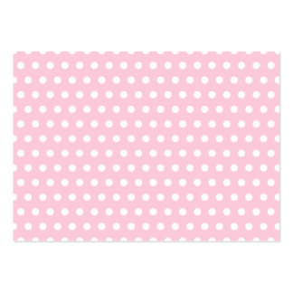 Pink and White Polka Dots Pattern. Business Cards
