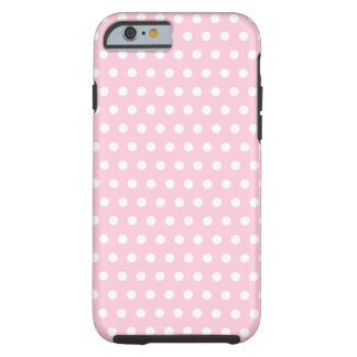 Pink and White Polka Dots Pattern. Tough iPhone 6 Case