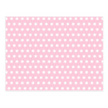 Pink and White Polka Dots Pattern. Post Card