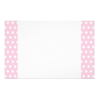 Pink and White Polka Dots Pattern. Stationery