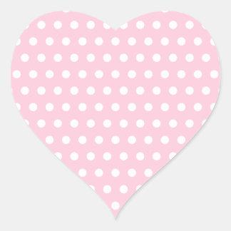 Pink and White Polka Dots Pattern. Sticker