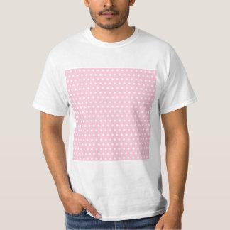 Pink and White Polka Dots Pattern. T-Shirt