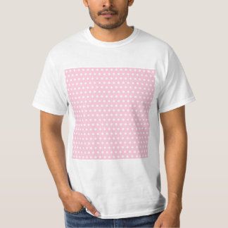 Pink and White Polka Dots Pattern. T Shirts