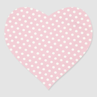 Pink and White Polka Dots Sticker